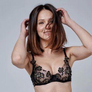 Ornella Black Underwire Bralette